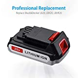 Powerextra 2 Pack 2.5Ah LBXR20 Battery Replace for