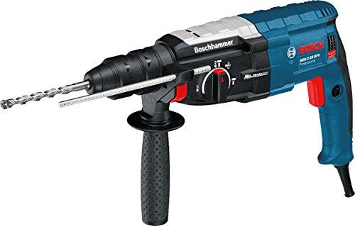 Bosch Professional GBH 2-28 DFV Bohrhammer (SDS-plus-Wechselfutter, 13 mm Schnellspannbohrfutter, bis 28 mm Bohr-Ø, Koffer) blau