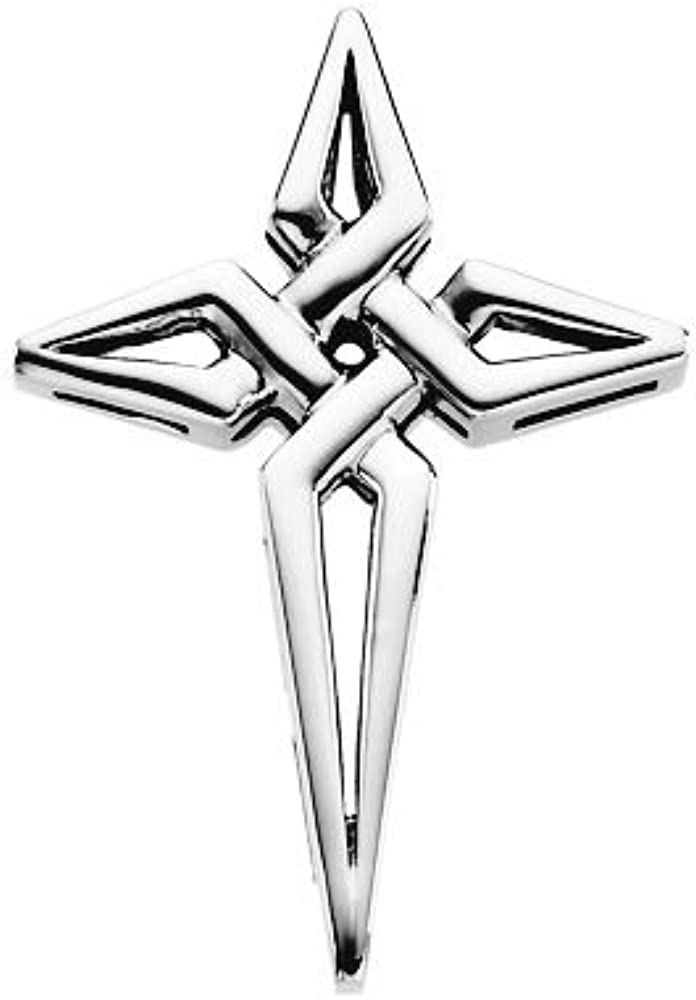 Jewels By Lux 925 Sterling Silver 29x21mm Cross Pendant