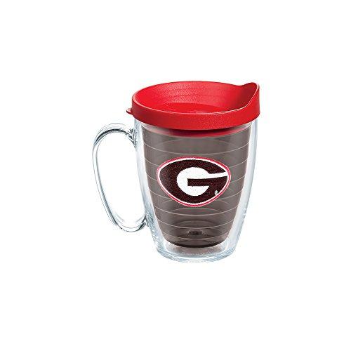 Tervis 1084323 Georgia Bulldogs Logo Tumbler with Emblem and Red Lid 16oz Mug, - College Mug Logo
