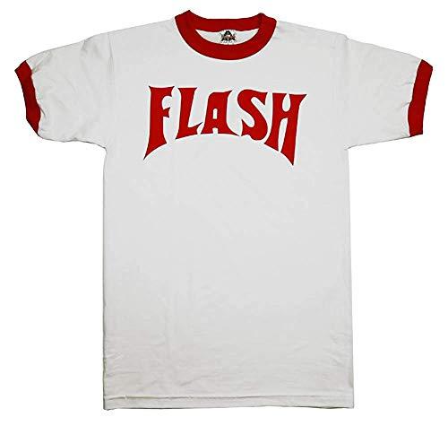 Flash Gordon Logo Red Ringer White T-Shirt (XXX-Large)