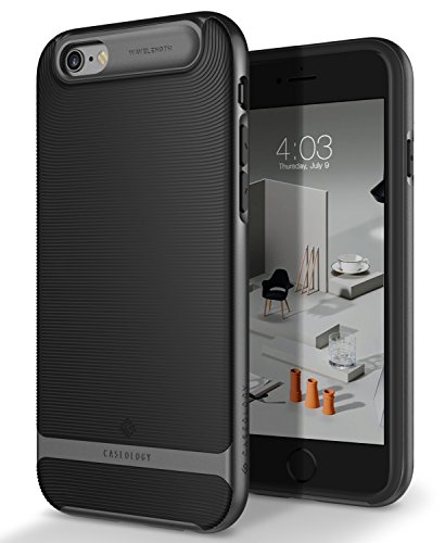 Caseology Wavelength for iPhone 6S Case (2015) / iPhone 6 Case (2014) - Stylish Grip Design - Black
