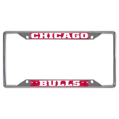 Fanmats 14847 NBA Chicago Bulls Chrome License Plate Frame by Fanmats