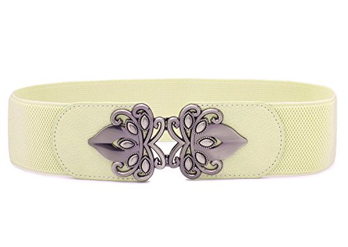 Syuer Womens Vintage Wide Elastic Stretch Waist Belt Retro Cinch Belt (Plus (30