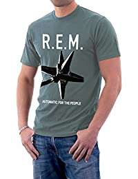 R.E.M. Automatic For The People REM Band Logo Men's T-Shirt