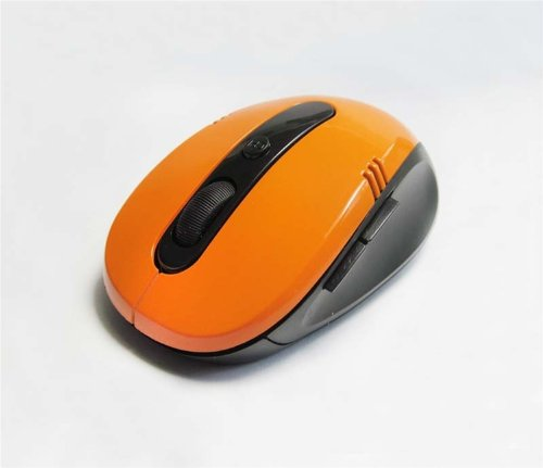 Domire Cordless USB Receiver Wireless 2.4G Optical Mouse For PC Computer Laptop (Orange