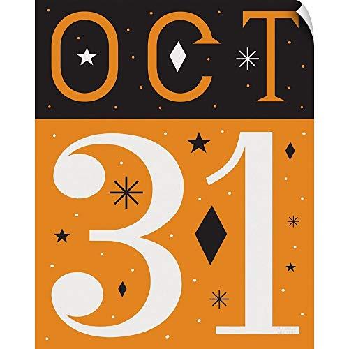 CANVAS ON DEMAND Festive Fright October 31 I Wall Peel Art Print, 24