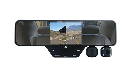 Falcon Zero F360 HD DVR Dual Dash Cam, Rear View Mirror, 1080p, SD Card Included - Recording System Portable Video Digital