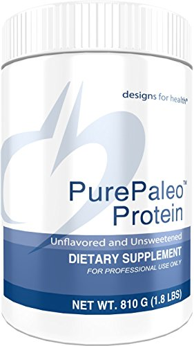 (Designs for Health Unflavored PurePaleo Protein - Pure Beef Collagen Peptides, 21g HydroBEEF + BCAAs (810g / 30 Servings))