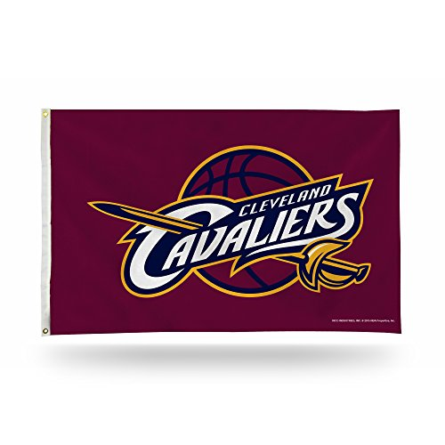 Rico Industries NBA Cleveland Cavaliers 3-Foot by 5-Foot Single Sided Banner Flag with Grommets ()