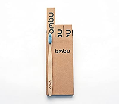 Bamboo Toothbrush ★ Firm Bristles ★ Made with High Quality, Sustainably Grown Natural Bamboo ★ Recycled Biodegradable Packaging