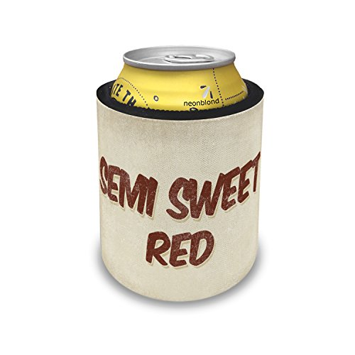 Red Sweet Wine Semi (Slap Can Coolers Semi Sweet Red Wine, Vintage style Insulator Sleeve Covers Neonblond)