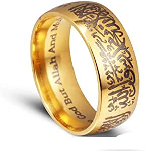 Men's Gold Plated KANJI Ring RICH/LUCK/WEALTH Set Size Adjustbale