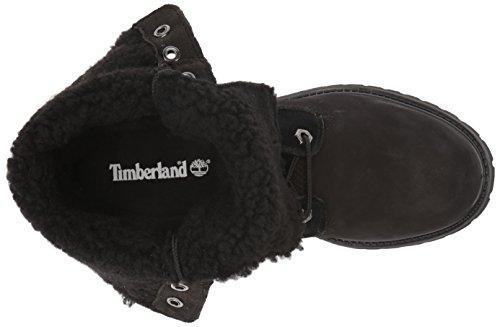 Fleece Boots Teddy Waterproof Black Timberland Fashion Women's Down Fold wUTw0WqE