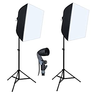 "Linco Lincostore Photography Equipment Photo Studio Lighting 24""x24"" Softbox Light Kit AM141M"