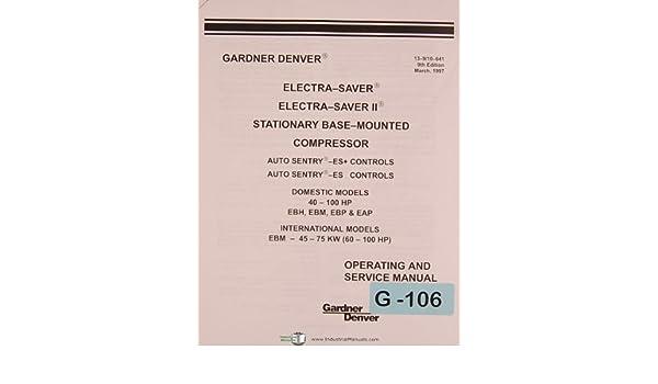Gardner Denver EX Electra Saver Compressor Operations And
