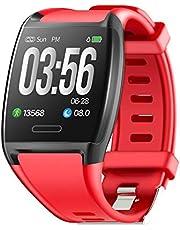 HalfSun Fitness Tracker, Orologio Fitness Braccialetto Pressione Sanguigna Cardiofrequenzimetro da Polso Impermeabile IP67 Smartwatch Uomo Donna Bambini GPS Pedometro Contacalorie Contapassi