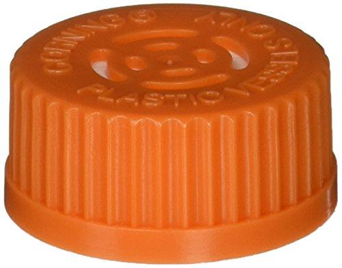 Corning 3567 Polyethylene Orange Disposable Vented Cap for GL45 Plastic Spinner Flasks, Sterile (Case of 4)