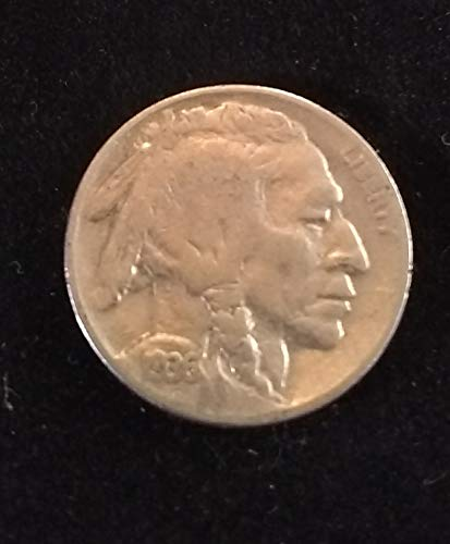 - 1936 (Indian Head) U.S. Buffalo Nickel VG to FINE+ American Mint U.S.A.