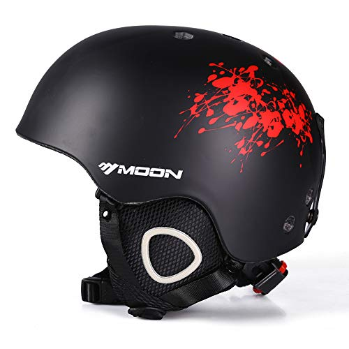 - MOON Ski & Snow Sports Helmet with Removable Thickened Earmuffs, for Adult and Youth,Women and Men,Skate & Bike & Snowboard & Other Extreme Sports