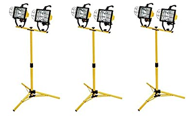 Woods L13 1000-Watt Telescope Worklight, Yellow, 120-Volt (Pack of 3)