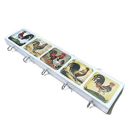 [Agility Bathroom Wall Hanger Hat Bag Key Adhesive Wood 5 Hooks Vintage Chicken's Photo] (Chicken Nugget Costume)