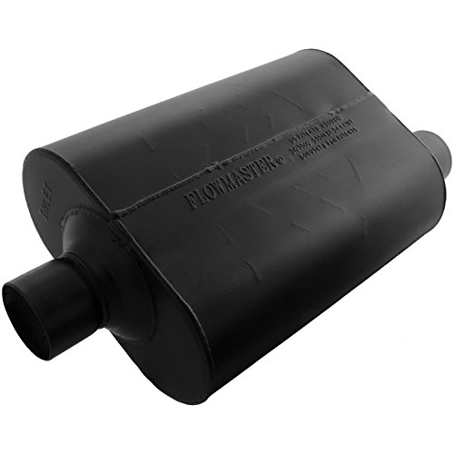 Flowmaster 952547 Super 40 Muffler - 2.50 Center IN / 2.50 Offset OUT - Aggressive Sound (Cherokee Flowmaster Muffler)