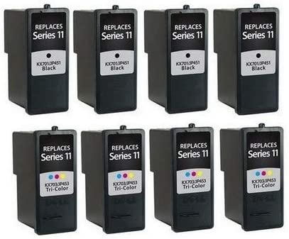 SuppliesMAX Compatible Replacement for Dell 948 AIO//V505//V505W Inkjet Combo Pack 4-Black//4-Color CN594/_4PK//CN596/_4PKMP Series 11