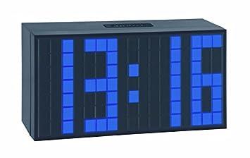 TFA 98.1082.06 Reloj Despertador Digital LED Azul Oscuro de diseño: Amazon.es: Hogar