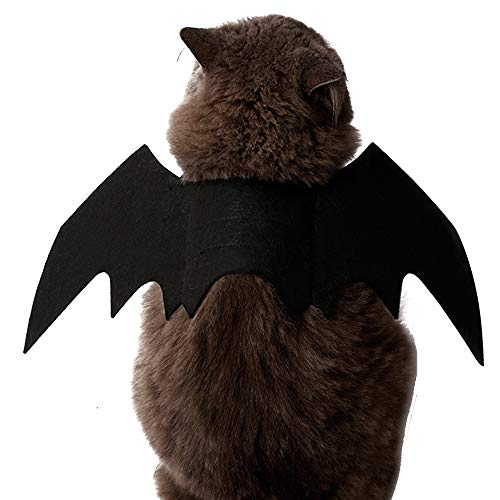 limmyun Cat Dog Halloween Pet Bat Wings Costume, Pet Apparel for Small Dogs and Cats ()