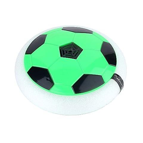 Air Power Soccer Disk Indoor Outdoor Hover Hockey Football Toys Green - Power Air Hockey