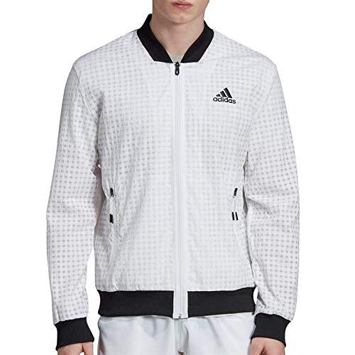 adidas Men's Escouade Jacket (Medium, White)