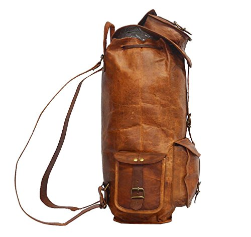 b983d357a6 Vintage Bags Real Leather Genuine Messenger Backpack Rucksack 18