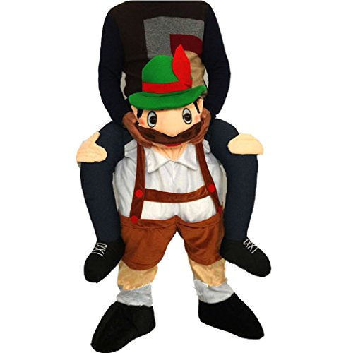 Beer Guy Costumes (Piggyback Ride Me Costume Bavarian Beer Guy Costume Riding Shoulder Adult Costume (Adult, Brown))