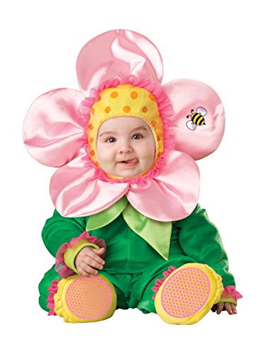 InCharacter Baby Blossom Costume, Green/Pink/Yellow,