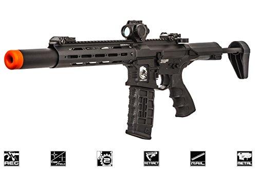 G&G Combat Machine PDW15 CQB M4 Carbine Full Metal AEG Airsoft Gun (Black)