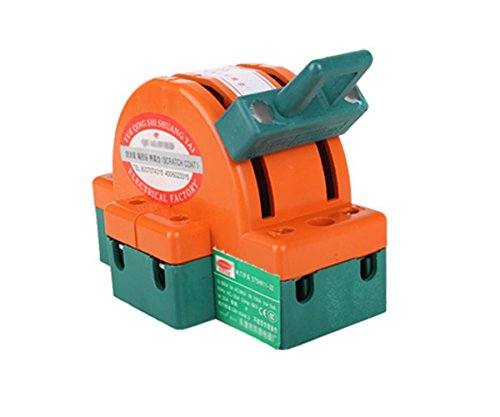 32A 2 Pole Double Throw DPDT Knife Safety Disconnect Switch Copper Plated Zinc,Orange