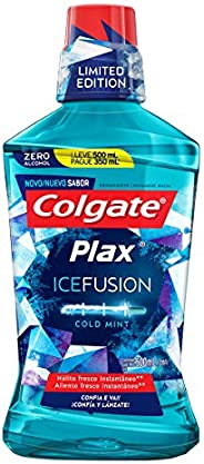 Enxaguante Bucal Colgate Plax Ice Fusion Cold Mint Promo Leve 500 Pague 300Ml