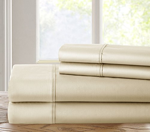 Chateau Home Luxury 500 Thread Count 100% Cotton Solid 4 (Chateau Queen)