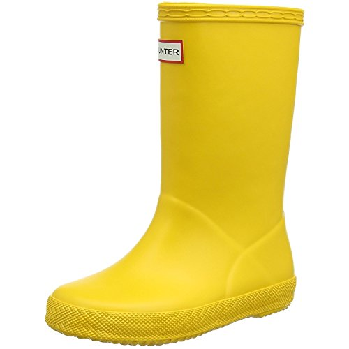 Kids Hunter First Classic Yellow Rubber Wellies Wellington Boots SIZE 13