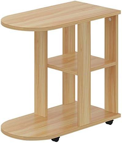 Nieuwe Uitgave Saladplates-LXM kleine bijzettafel sofa tafel side/koffie/snack/opslag tafel met wielen voor huis, woonkamer, kantoor (2 kleuren) A EFmC1O6