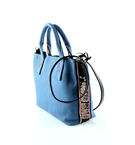 Borsa Y4pb Shopping Canvas 1h20h9 Blu Donna Pinko Colima S Cwq7ddZ