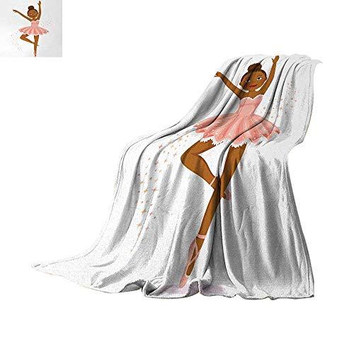 Anhuthree Girls Throw Blanket Ballerina Dancing Daughter Classic Performance Hobby Birthday Kids Baby Theme Digital Printing Blanket 50