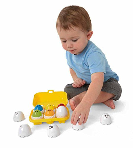 Kidoozie Peek N Peep Eggs - Mentally Stimulating – Employs Tactile Engagement – for ages 12 Months and Up