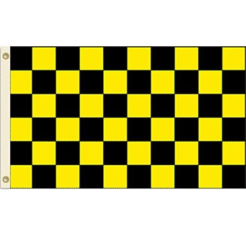 Black and Yellow Checkered 3x5 Polyester Flag by Vista Flags