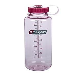 Nalgene Tritan Wide Mouth BPA-Free Water Bottle, Pink w/ Pink Cap, 1 Quart