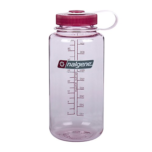 Nalgene Tritan Wide Mouth BPA-Free Water Bottle, Pink w/ Pink Cap, 1 Quart