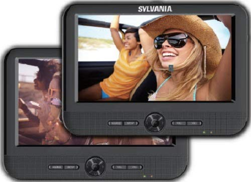 Mobile Dual Screen/Dual DVD Portable DVD Player - Play Same or Separate Movies (Certified Refurbished) ()