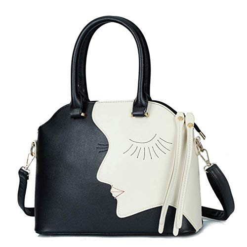 Oblique Handbag Pieces black Shoulder Single Madame Four The Leather Jtsyh Black Mother HqgxCzp4Ww