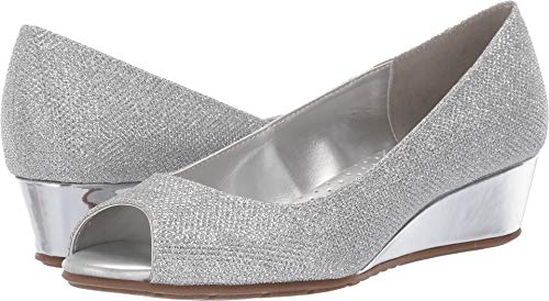 - Bandolino Womens Candra Silver Glamour 6.5 M